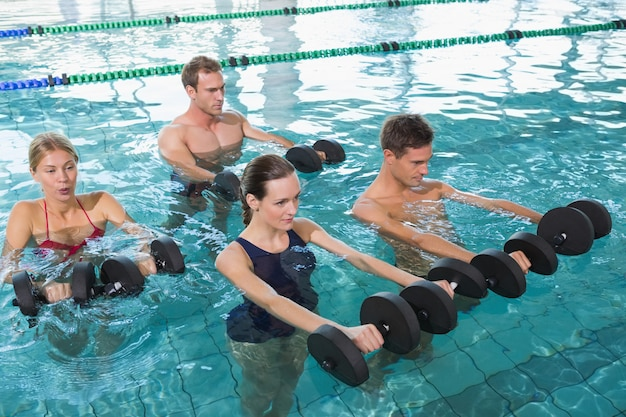 water aerobics exercise