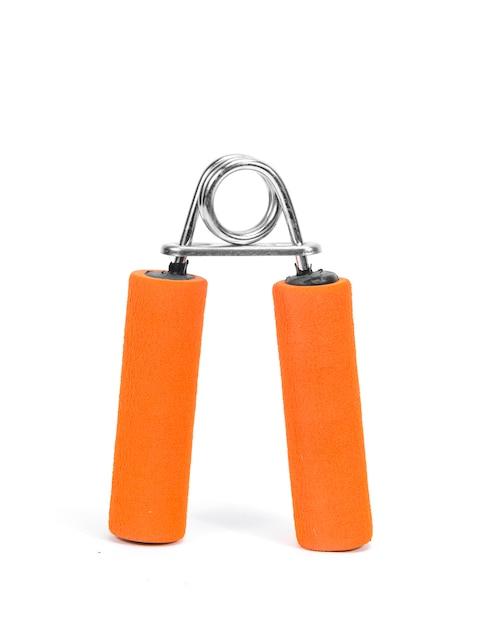 Aumente o seu poder de mão e braço com a ferramenta de exercício de antebraço (garra de mão de mola) Foto Premium