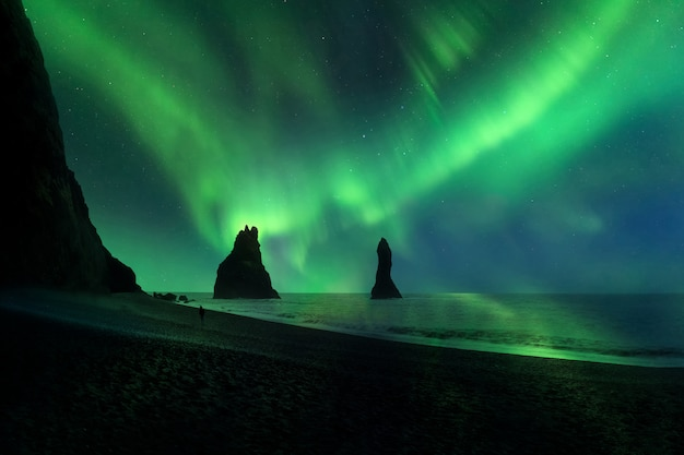 Aurora boreal Foto Premium