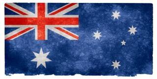 Austrália bandeira do grunge Foto gratuita