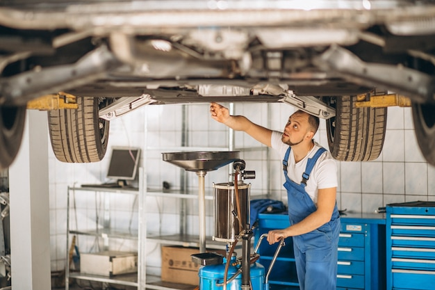 Auto, verificar mecânico, car Foto gratuita