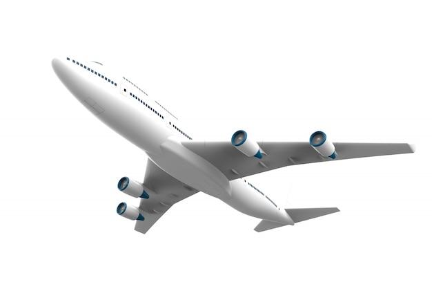 Avião isolado isolado no branco Foto Premium