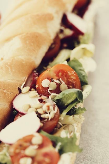 Baguete vegetariana Foto gratuita