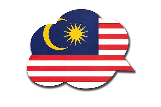 Balão com bandeira nacional da malásia Foto Premium