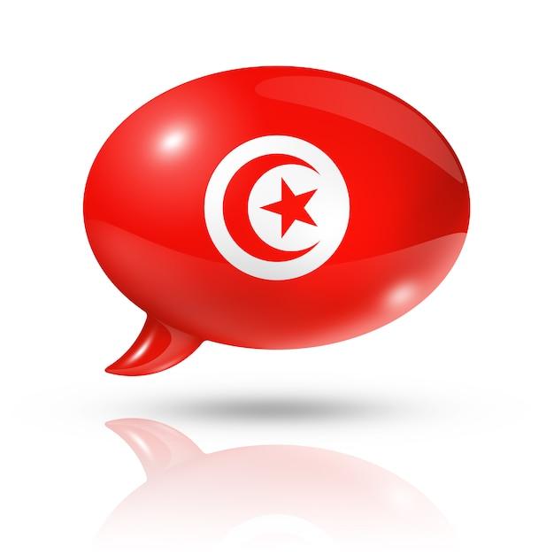 Balão da bandeira da tunísia Foto Premium