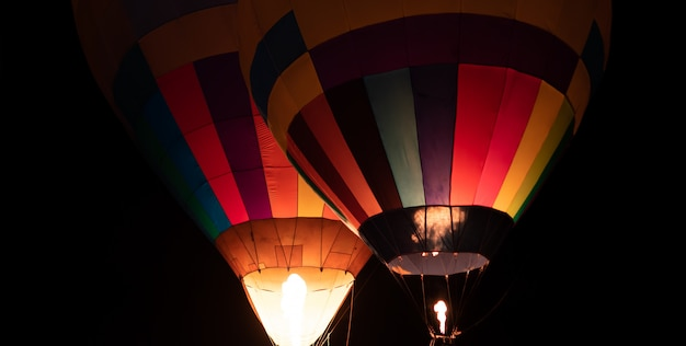 Balão noite festival crepúsculo Foto Premium