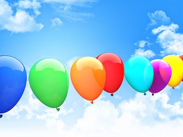 Balões 3d Foto Premium