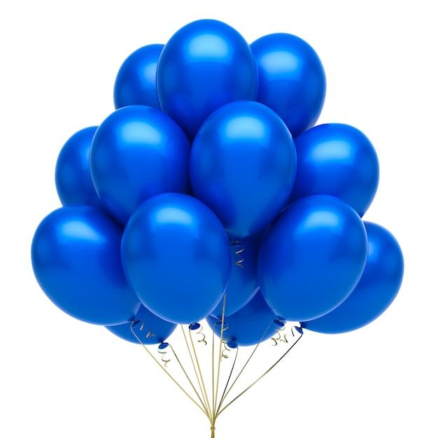 Balões azuis Foto Premium