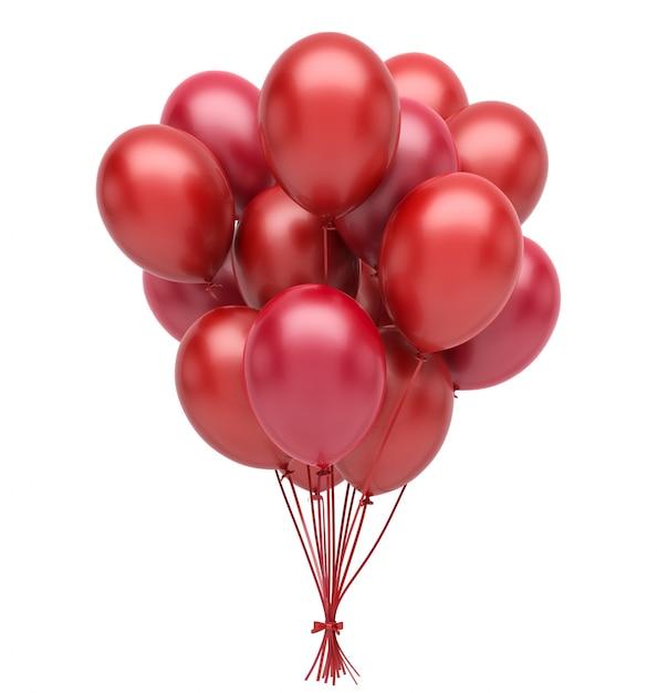 Balões vermelhos Foto Premium