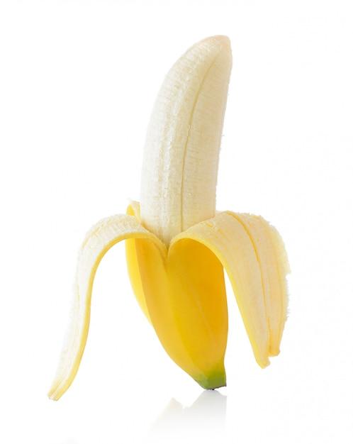 Banana isolada no branco Foto Premium