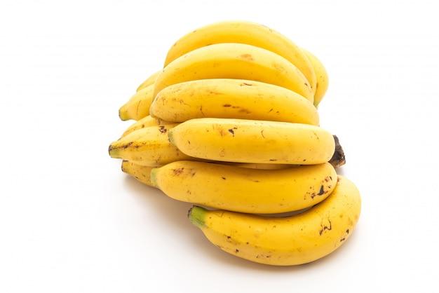 Banana isolado no fundo branco Foto Premium