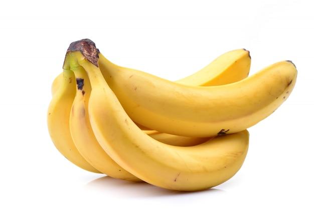 Bananas em um branco isolado Foto Premium