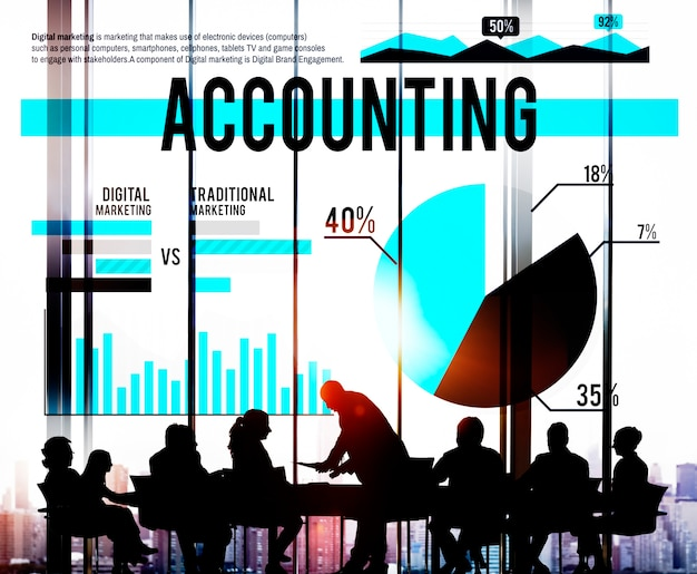 Bancário de negócios de contabilidade budge conceito de mercado de finanças Foto gratuita