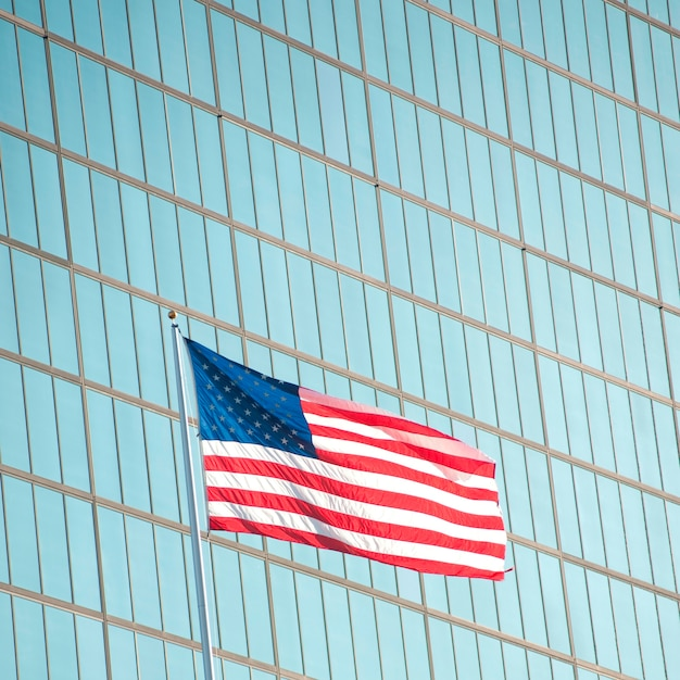 Bandeira americana, em, boston, massachusetts, eua Foto Premium