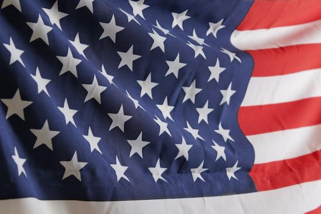 Bandeira americana (eua) para o dia do memorial em 4 de julho, fundo de dia independente Foto Premium