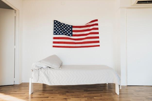 Bandeira americana, ligado, parede Foto gratuita