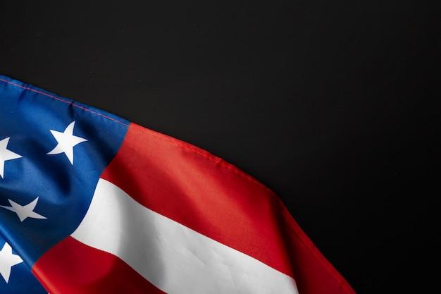 Bandeira americana vintage em uma lousa com espaço para texto Foto Premium