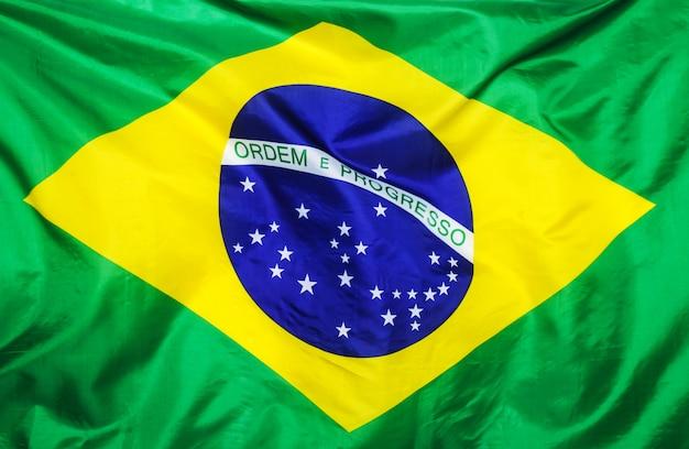 Bandeira brasileira em branco Foto gratuita