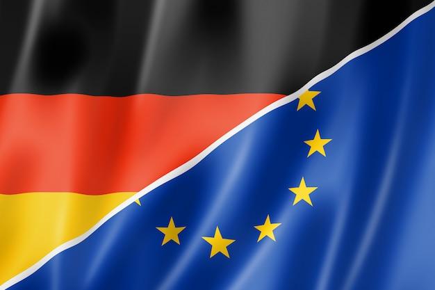 Bandeira da alemanha e europa Foto Premium