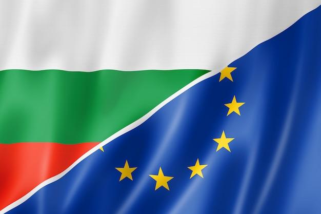 Bandeira da bulgária e da europa Foto Premium