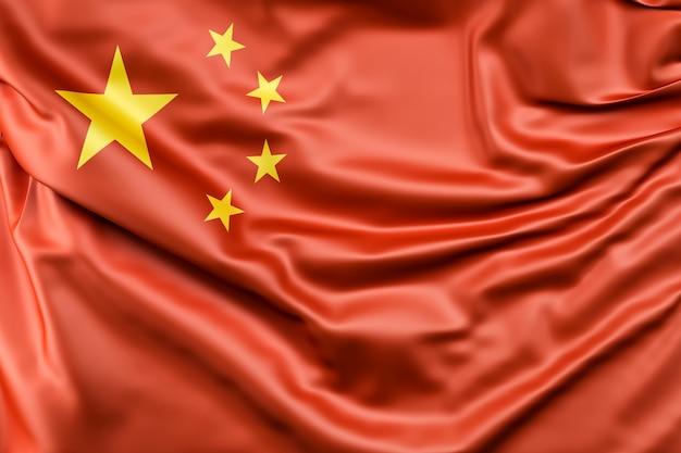 Bandeira da China em seda