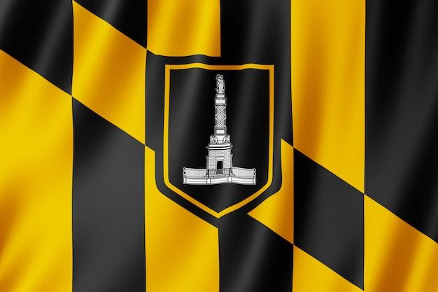 Bandeira da cidade de baltimore, maryland (eua) Foto Premium