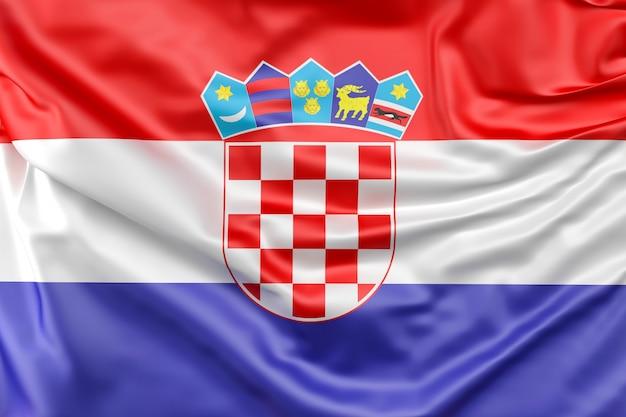 Bandeira da croácia Foto gratuita