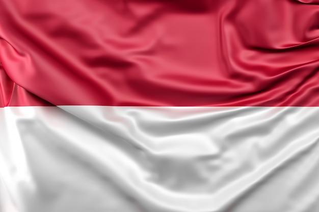 Bandeira da indonésia Foto gratuita