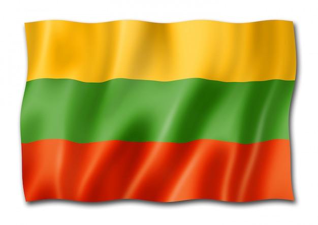 Bandeira da lituânia isolada Foto Premium