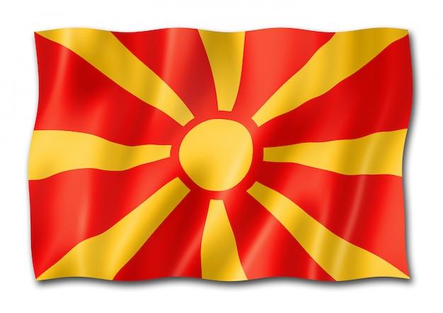 Bandeira da macedônia isolada Foto Premium