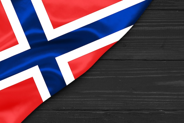 Bandeira da noruega cópia espaço Foto Premium