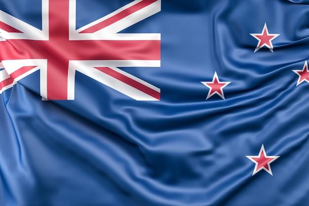 Bandeira da nova zelândia Foto gratuita