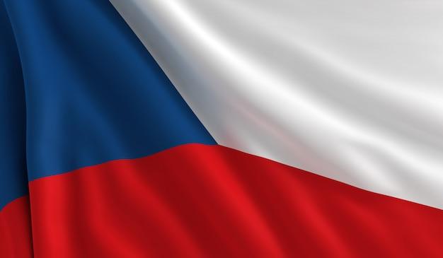 Bandeira da república checa Foto Premium