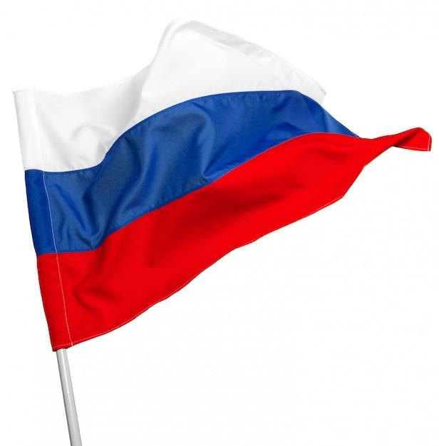 Bandeira da rússia acenando Foto Premium