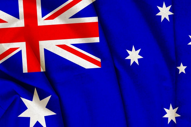 Bandeira de austrália do vintage Foto Premium