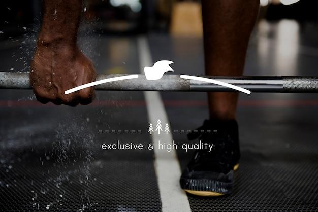 Bandeira de exercício em branco pássaro emblema gráfico Foto gratuita