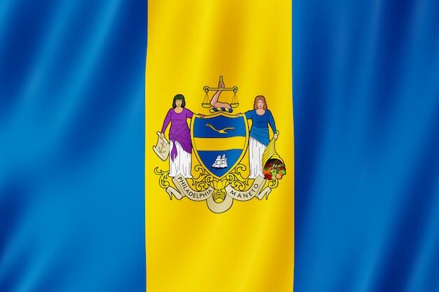 Bandeira, de, filadélfia, cidade, pensilvânia, (us) Foto Premium