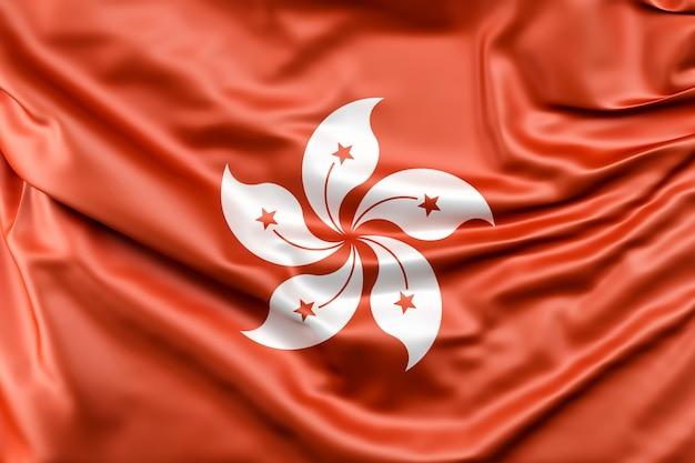 Bandeira de hong kong Foto gratuita