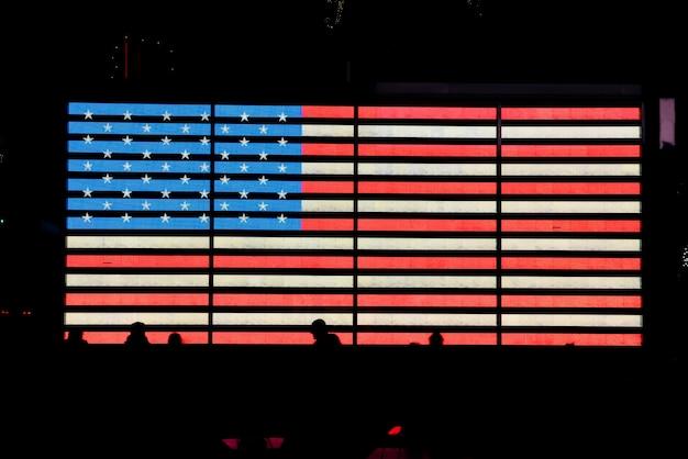 Bandeira de incandescência dos eua Foto gratuita