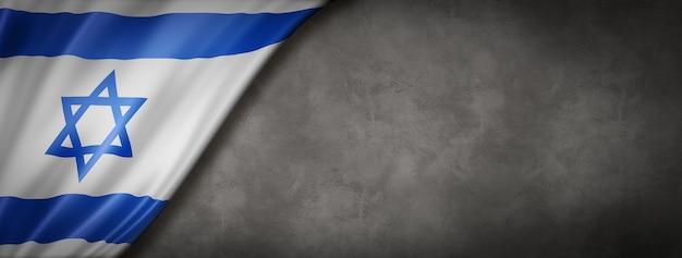 Bandeira de israel na parede de concreto Foto Premium