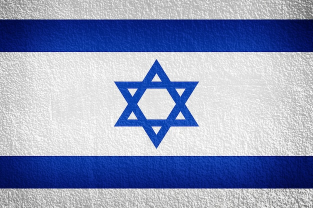 Bandeira de israel na parede Foto Premium