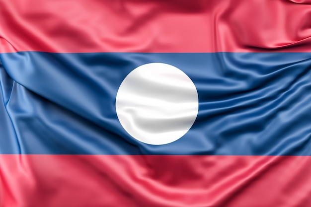 Bandeira de laos Foto gratuita