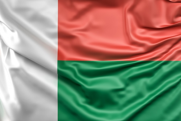 Bandeira de madagascar Foto gratuita