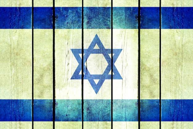 Bandeira de madeira em madeira de israel. Foto gratuita
