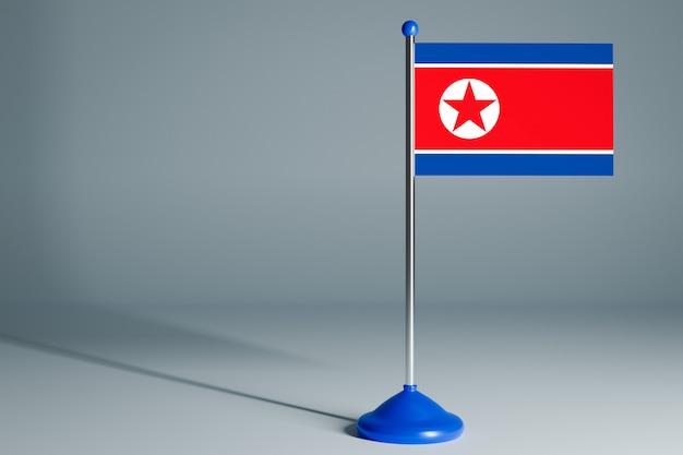 Bandeira de mesa em branco, apropriada para o projeto Foto Premium