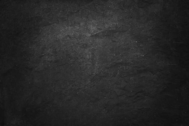 Bandeira de placa de giz preto e escuro, parede interior em branco e sala de estúdio para produto apresentado Foto Premium