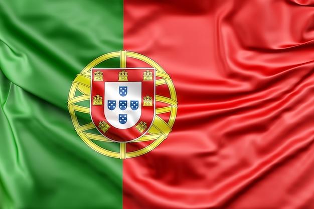 Bandeira de portugal Foto gratuita