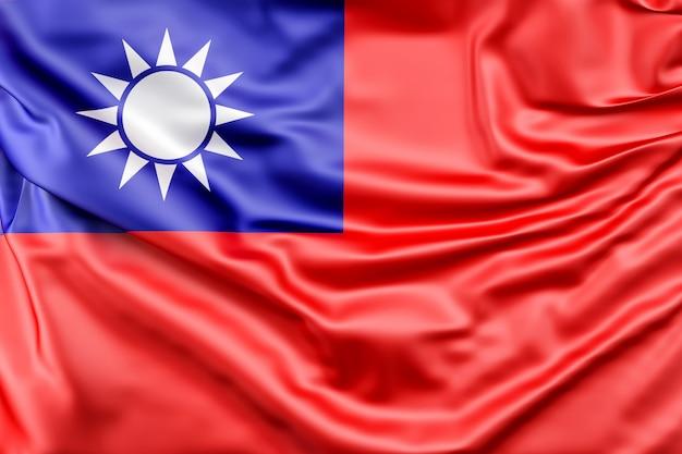 Bandeira de taiwan Foto gratuita
