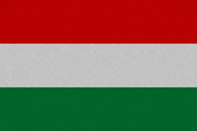 Bandeira de tecido da hungria Foto Premium