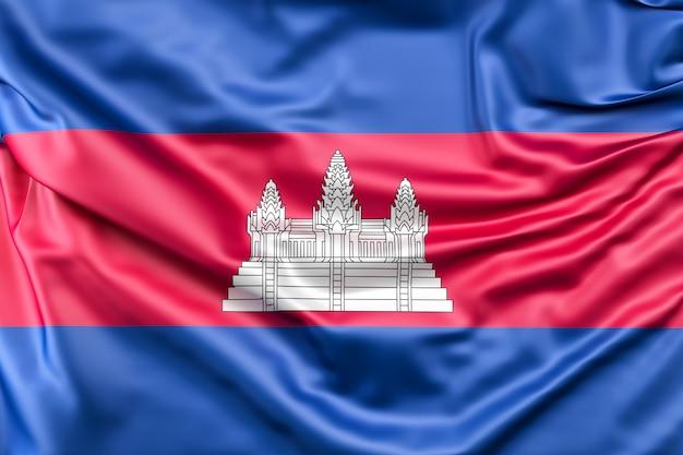 Bandeira do camboja Foto gratuita